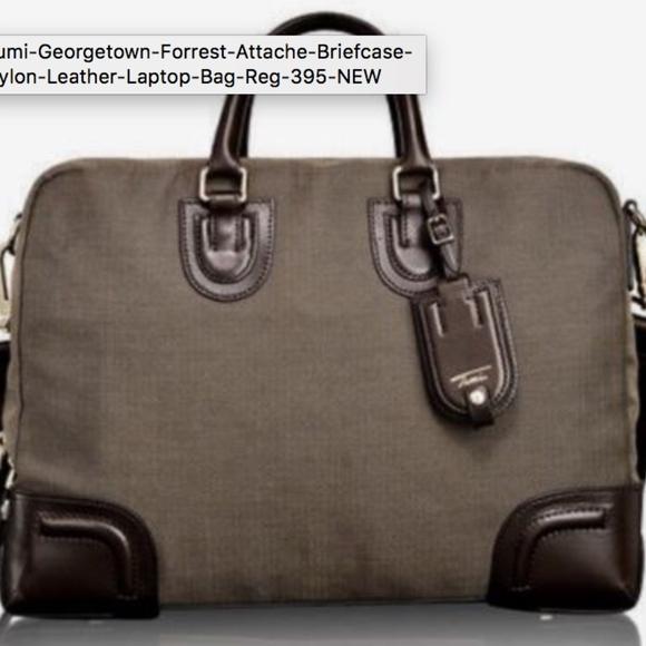a9ec6f0b8a60 Tumi Georgetown Forrest Briefcase Laptop Bag NEW. M_5b22c6355c4452c44c352ad3